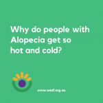 New Resource – Why do people with alopecia get so hot and cold? Infographic